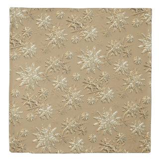 """""""それが羽毛布団""""金ゴールドの効果の雪片パターン雪が降るようにして下さい 掛け布団カバー"""