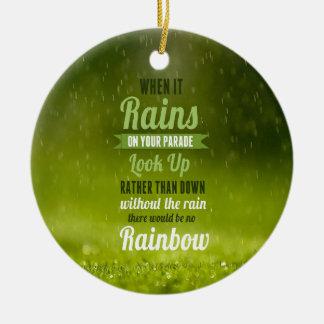 それが雨、そこに虹である時 セラミックオーナメント