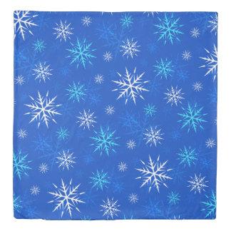 """""""それが青い雪片パターン羽毛布団カバー""""雪が降るようにして下さい 掛け布団カバー"""