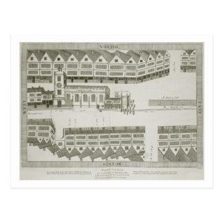 それが1585年に現われたように西に安く、engrav ポストカード