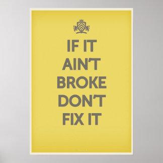 それがBrokeでなかったら'それを固定しないで下さい プリント