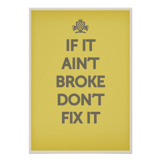 それがBrokeでなかったら'それを固定しないで下さい ポスター
