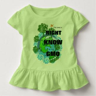 それがGMOであるかどうか知る権利を有します トドラーTシャツ