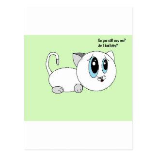 それにもかかわらず私を愛しますか。 悪い子猫の芸術 ポストカード