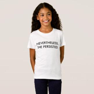 それにもかかわらず…女の子のTシャツ Tシャツ