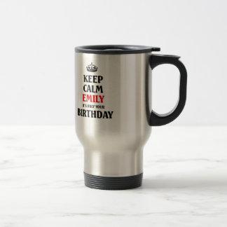それによってがちょうどあなたの誕生日である穏やかなエミリーを保って下さい トラベルマグ