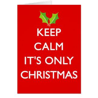 それによってがクリスマスだけである平静を保って下さい カード