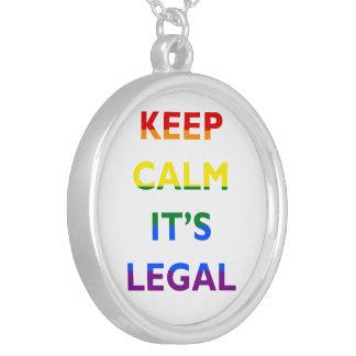 それによってが法的サポートLGBTネックレスである平静を保って下さい シルバープレートネックレス