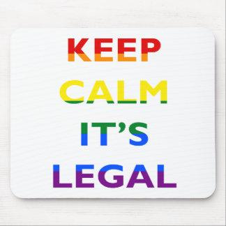 それによってが法的サポートLGBTマウスパッドである平静を保って下さい マウスパッド