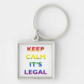 それによってが法的サポートLGBT Keychainである平静を保って下さい キーホルダー
