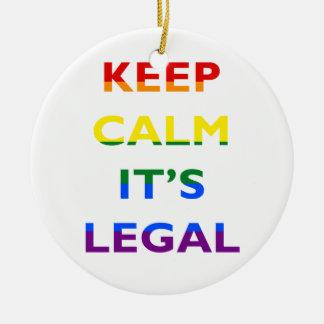 それによってが法的サポートLGBT Ornamnetである平静を保って下さい セラミックオーナメント