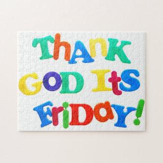 それによってが金曜日である神を感謝していして下さい! ジグソーパズル