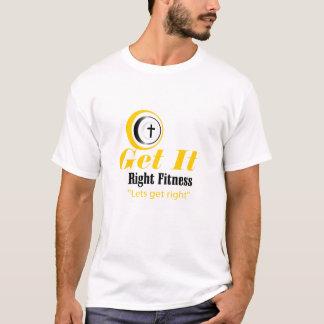 それに右のフィットネスの最終を得て下さい Tシャツ