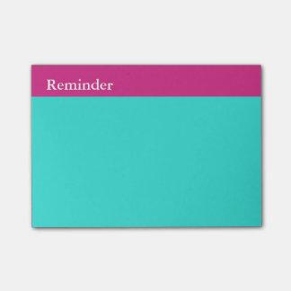 それに明るいピンクのターコイズのメモの習慣のパッドをして下さい ポストイット