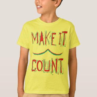 それに計算のワイシャツをして下さい Tシャツ