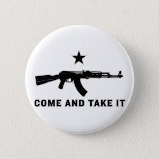 それに(カラシニコフ自動小銃)ボタンを取ります来て下さい 5.7CM 丸型バッジ