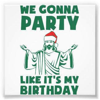 それのようなパーティーはクリスマスの誕生日です フォトプリント