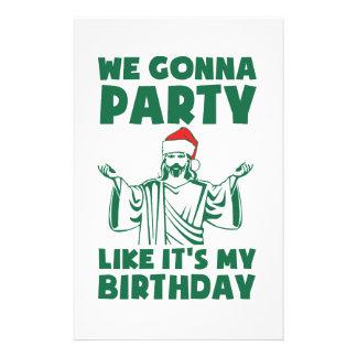 それのようなパーティーはクリスマスの誕生日です 便箋