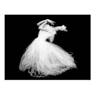 それのようにクラシカルなダンサーの見えは飛んでいます ポストカード