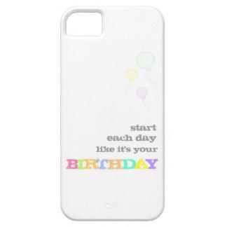それのように毎日ありますあなたの誕生日が始めて下さい iPhone SE/5/5s ケース