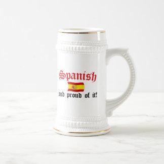 それのスペインのそして誇りを持った ビールジョッキ