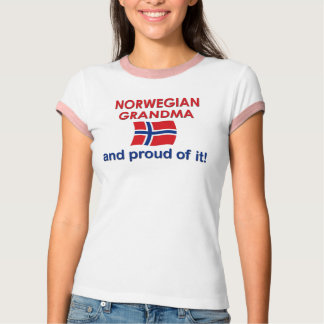 それのノルウェーの祖母誇りを持った Tシャツ