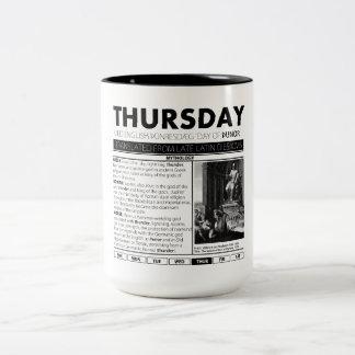 それの後ろの木曜日及び神話:  7個のコップの1個 ツートーンマグカップ