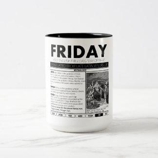 それの後ろの金曜日及び神話:  7個のコップの1個 ツートーンマグカップ