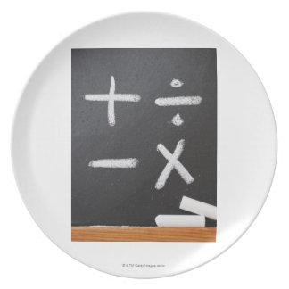 それの数学記号を用いる黒板 プレート