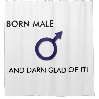 それの生まれる男性そして非常に嬉しいシャワー・カーテン シャワーカーテン