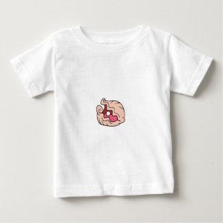 それの真珠を持つピンクの漫画のハマグリ ベビーTシャツ