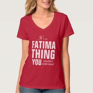 それはあなたが理解しないファティマの事です Tシャツ