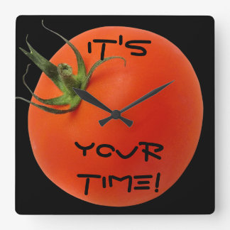 それはあなたの時間のシックな柱時計です! スクエア壁時計