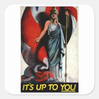 それはあなたまで(Britanniaの) _Propagandaポスターです スクエアシール