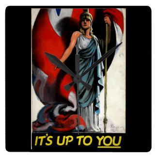 それはあなたまで(Britanniaの) _Propagandaポスターです 時計