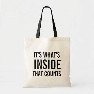 それはおもしろいなトートバックを数える内部はであるものです トートバッグ