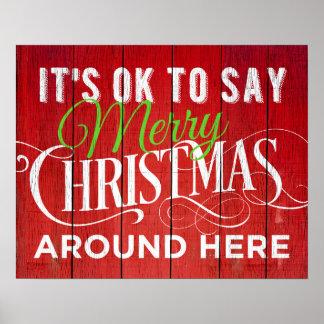 それはこの辺にメリークリスマスを言うことは良いです! 印 ポスター