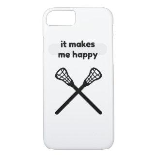 それはします私に幸せラクロスを作ります iPhone 8/7ケース