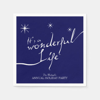それはすばらしい生命、休日のパーティです スタンダードカクテルナプキン
