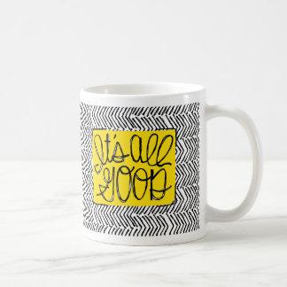 それはすべてのよいヘリンボン印刷のデザインです コーヒーマグカップ