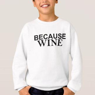 それはすべてへちょっと答えのでワインです スウェットシャツ