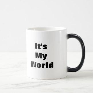 それはちょうど訪問する私の世界 あなたはです モーフィングマグカップ