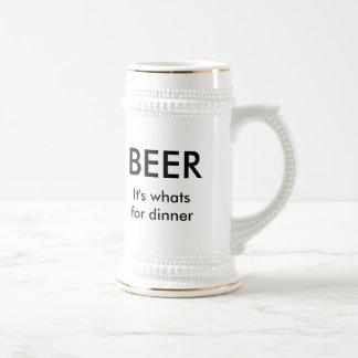 それはであるものが夕食のためです ビールジョッキ