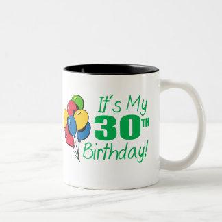 それはです私の第30誕生日(気球) ツートーンマグカップ