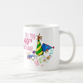 それはです私の第40誕生日(パーティーの帽子) コーヒーマグカップ