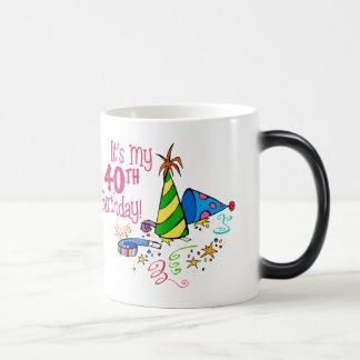 それはです私の第40誕生日(パーティーの帽子) モーフィングマグカップ