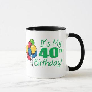 それはです私の第40誕生日(気球) マグカップ