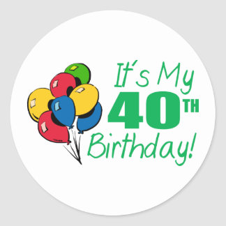 それはです私の第40誕生日(気球) ラウンドシール