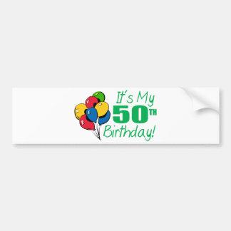 それはです私の第50誕生日(気球) バンパーステッカー