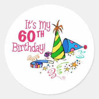 それはです私の第60誕生日(パーティーの帽子) ラウンドシール